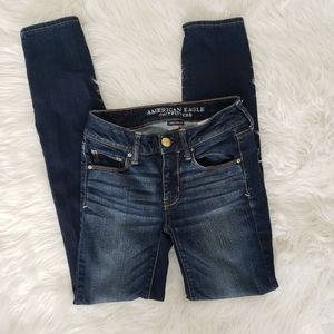 AEO Dark Wash Super Stretch Skinny Jeans
